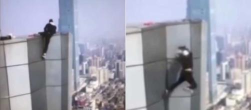 Rooftopping daredevil Wu Yongning. Image Credit: Blasting News