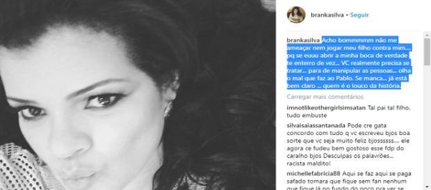 Ex de Naldo faz desabafo em rede social
