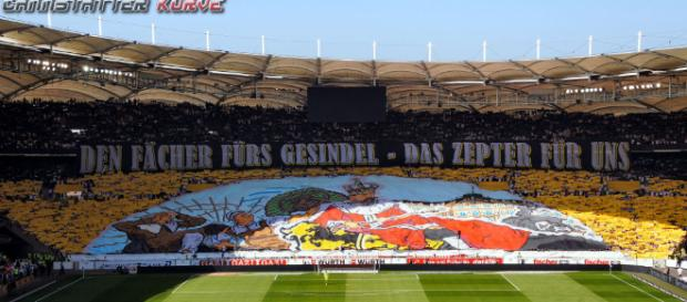 Fan-Choreo in Stuttgart (Quelle: internet-remotecontrol.net)