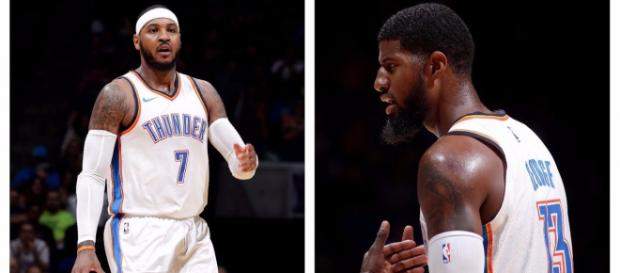 Paul George and Carmelo Anthony [Image Credit: NBA/Youtube ]