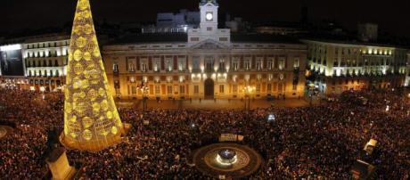 Campanadas en la Puerta del Sol en Madrid