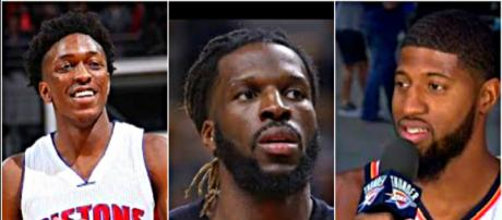 Stanley Johnson, DeMarre Carroll and Paul George are subject of trade rumors the past few weeks – [image credit: Hoopshype/Youtube]