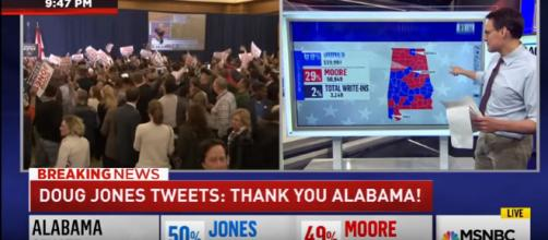 Doug Jones wins Alabama senate election - Image credit - MSNBC | YouTube