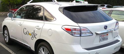 Google's Lexus RX 450h Self-Driving Car. - [Image credit – Steve Jurvetson, Wikimedia Commons]