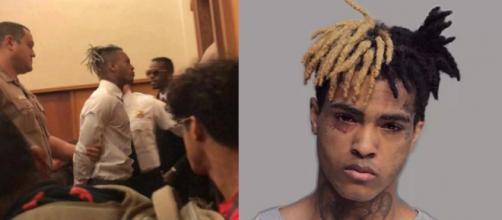 Il rapper, durante il processo di oggi.