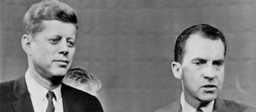 Kennedy and Nixon [image courtesy of AP wikimedia commons public domain]