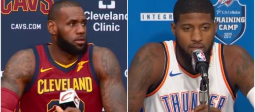 LeBron James and Paul George could be teammates with the Los Angeles Lakers next year – [image credit: Ximo Pierto/Youtube]