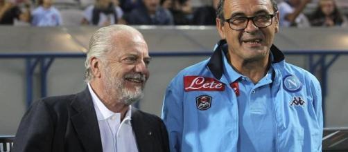 """Napoli, De Laurentis difende Sarri: """"Non vuole sciupare il nostro patrimonio"""""""