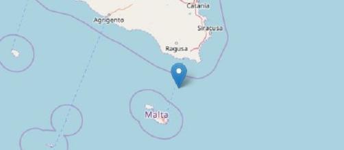 scossa di terremoto in sicilia nel ragusono e canale di sicilia