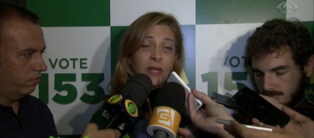A empresária Leila Pereira é a patrocinadora do clube