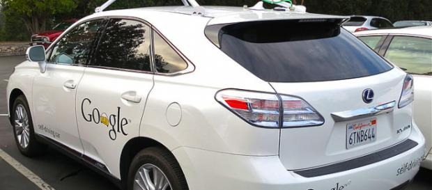Google's Lexus RX 450h Self-Driving Car. - [Image credit – Steve Jurvetson, Wikimedia Commons]