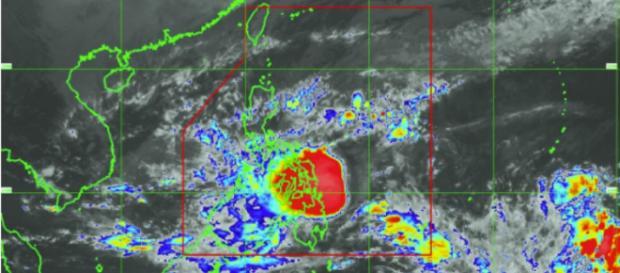 Imagen satelital al 15 de diciembre a las 5:30 p.m. Imagen cortesía de PAGASA