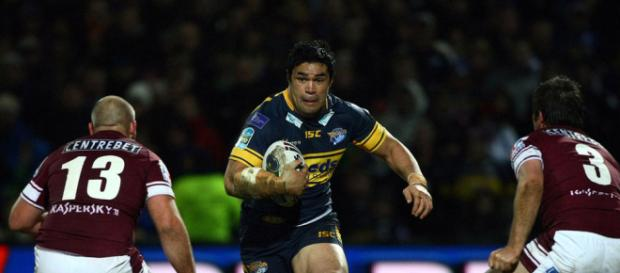 Kylie Leuluia- one of the best Samoan and overseas forwards to grace Super League. Image Source: therhinos.co.uk