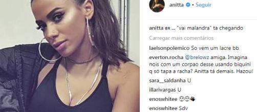 A cantora deixou todos impressionados ( Reprodução - Instagram )