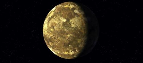 Concepção artística mostra Kepler-90i, o planeta recém-descoberto (Crédito: YouTube/NASA's Ames Research Center)