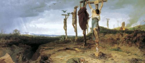 Crucifixión del ejército de Espartaco. Fyodor Bronnikov