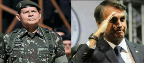 General Mourão e deputado Bolsonaro
