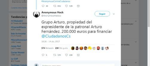 Grupo Arturo entre los donantes de Cs
