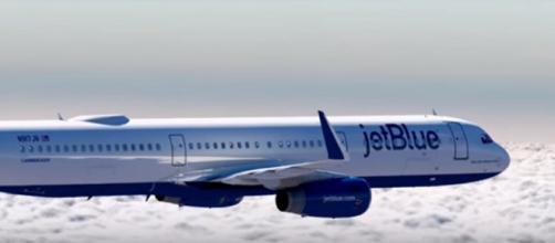 JetBlue passenger plane. - [Image from JetBlue / YouTube screencap]