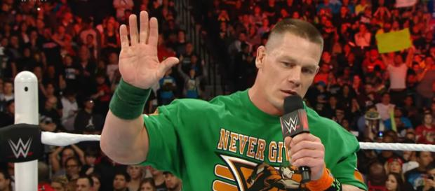 John Cena is a the favorite to win the 2018 Royal Rumble. [Image via WWE/YouTube]