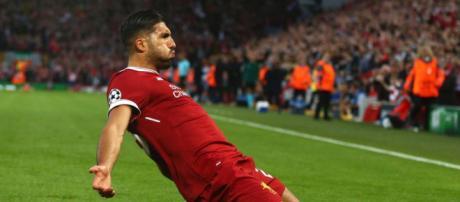 Emre Can celebrates his goal for Liverpool against Hoffenheim ... - net.au