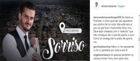 Seguidores reclamam que Marcos não agradece os fãs