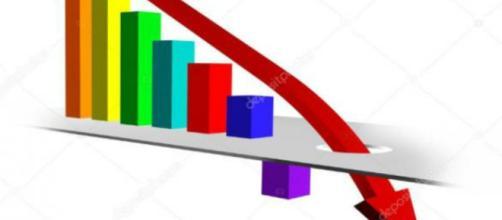 Gráfico con tendencia a la baja — Foto de Stock #8256138 ... - depositphotos.com
