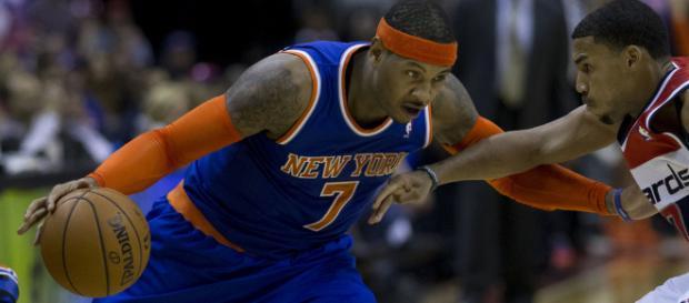 Carmelo Anthony returned in New York. - [via Flickr - Keith Allison]
