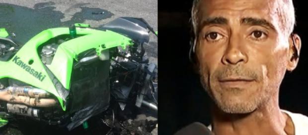 Romário se envolve em acidente de moto