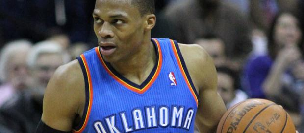 Russell Westbrook dropped a triple-double. (via Wikimedia Commons - Keith Allison)