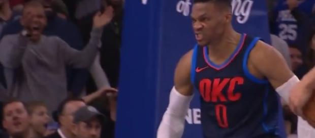 Russell Westbrook notches another triple-double. - [NBA / YouTube screencap]