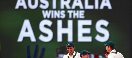 Australia win the Ashes. Image credit-Screen shot Youtube.com