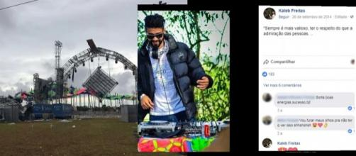 DJ morre após desabamento de palco no Sul