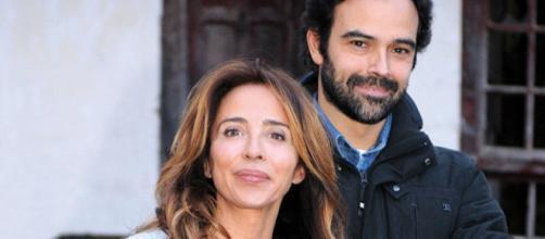 María Patiño junto a su novio Ricardo