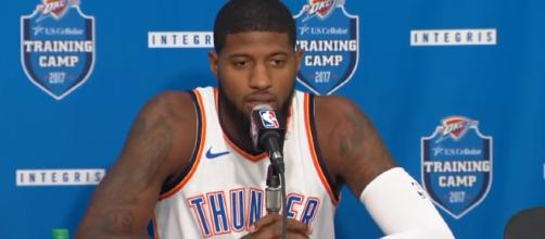Paul George has the ability to opt out and become a free agent in the offseason. – [ESPN Media / YouTube screencap]