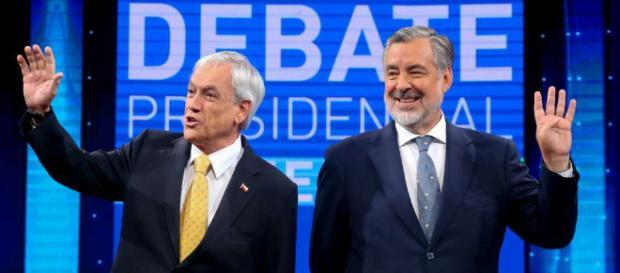 Les candidats Sebastian Piñera (à gauche) et Alejandro Guillier (à droite) aux Présidentielles / Esteban Félix // AFP