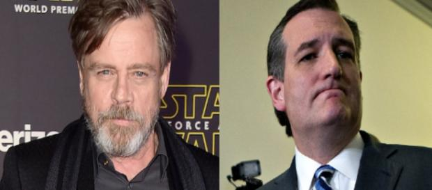 Mark Hamill, Ted Cruz, via Twitter