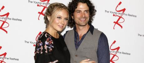 Melissa Ordway and Daniel Hall from Young and the Restless [Image credit: CBS, used with permission]