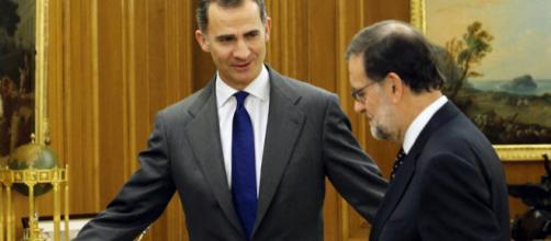 El Rey Felipe y Mariano Rajoy en