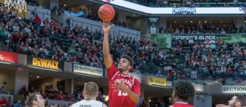 Juwan Morgan scored a career-high 34 in IU's win over #18 Notre Dame - Joe Ullrich | CNHI Sports Indiana, used with permission