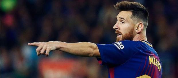 Messi en uno de los partidos con el FC Barcelona