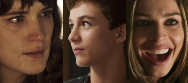 Tomaz destratará Clara por causa de Lívia na novela O Outro Lado do Paraíso. (Foto: Reprodução/Montagem/TV Foco)
