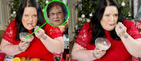 Debra Parsons pretende usar as cinzas de sua mãe como ingrediente do banquete de Natal da família (Crédito: Sunday Mirror)