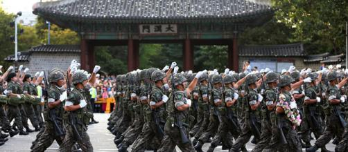Armed Forces' parade on the main street in Seoul (Image credit – Jeon Han, Wikimedia Commons)