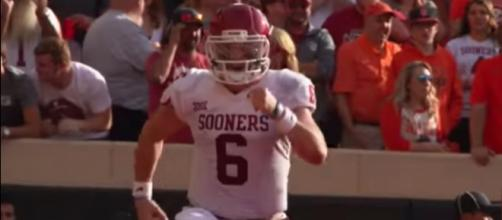 Baker Mayfield will face his toughest test of the year against Georgia. Photo courtesy: DEVO Highlights Presents via YouTube