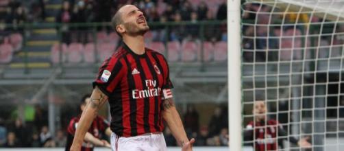 delusione di bonucci dopo un goal sbagliato dal Milan