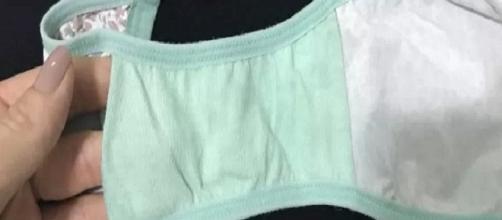 Detalhe na parte interna da calcinha desperta atenção de internautas
