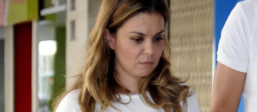 María José Campanario, ingresada en el hospital