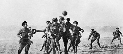 Soccer breaks out in no man's land [Image Courtesy/unknown photographer/Wikimedia Commons]