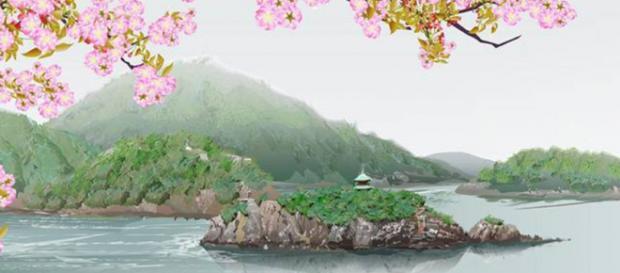 Esta paisagem foi ''pintada'' inteiramente no Excel. Foto: Reprodução